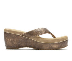 Women's Volatile Galley Platform Wedge Flip-Flops