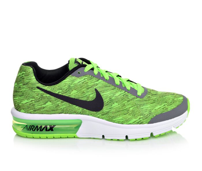 Boys' Nike Air Max Sequent Print 3.5-7 Running Shoes