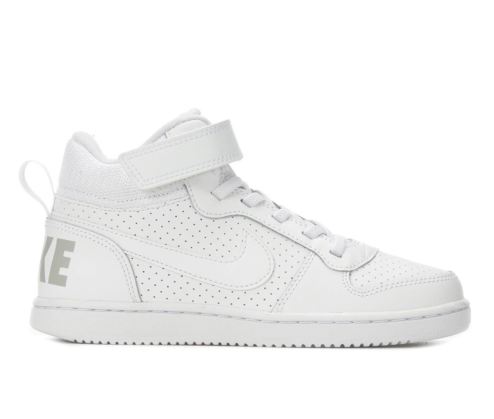 super popular 57c93 dd9dd ... Nike Little Kid Court Borough Mid Velcro High Top Basketball Shoes.  Previous
