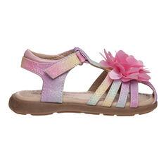 Girls' Laura Ashley Toddler & Little Kid 81993S T-Strap Flower Sandals