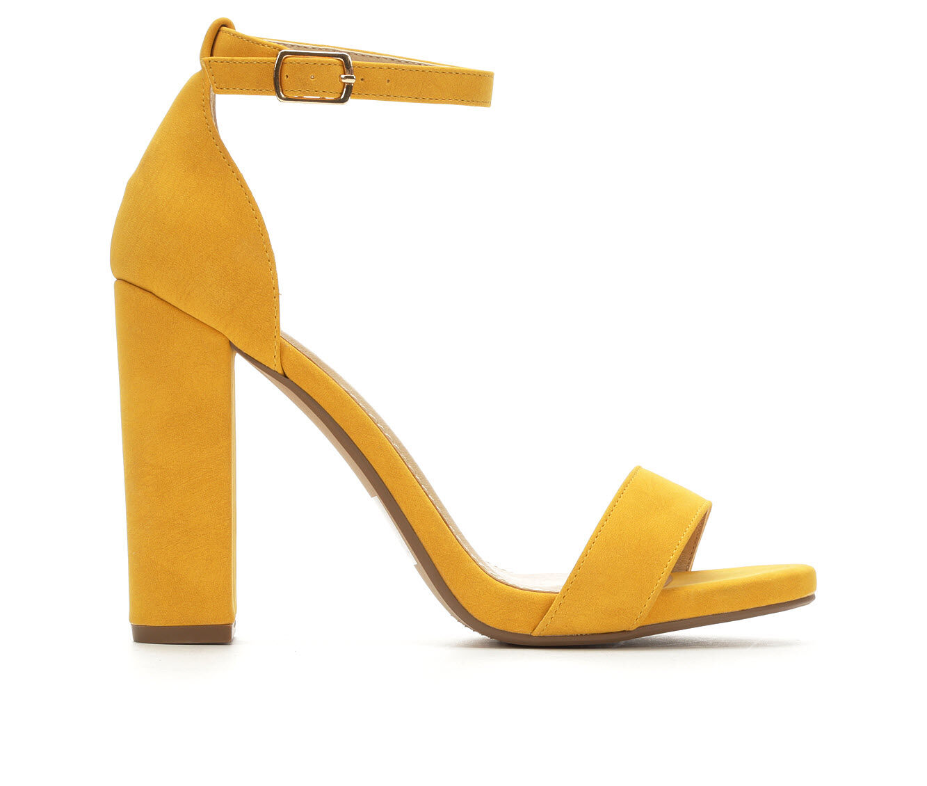Women's Y-Not Shiner Heeled Sandals Mustard