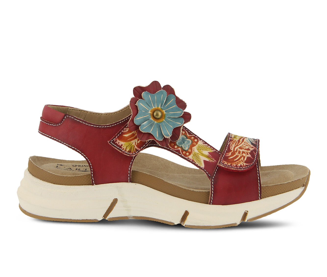 Women's L'ARTISTE Vergie Flatform Sandals Red