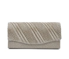 Four Seasons Handbags Small Diagonal Stripe Evening Clutch
