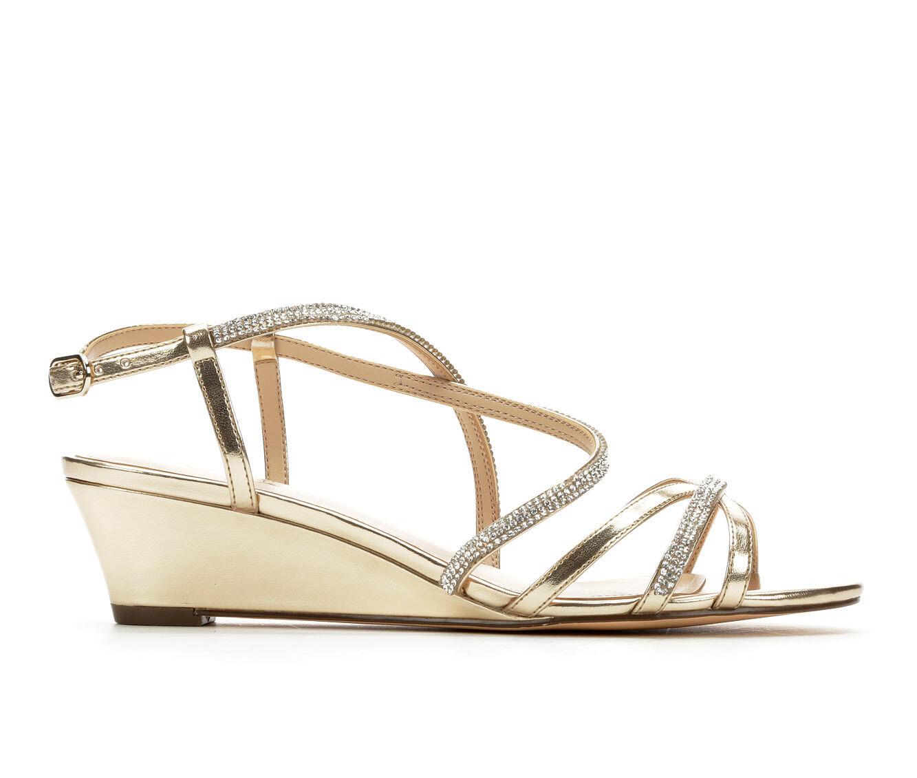 Women's Touch Of Nina Freeda Wedge Dress Sandals Soft Platino