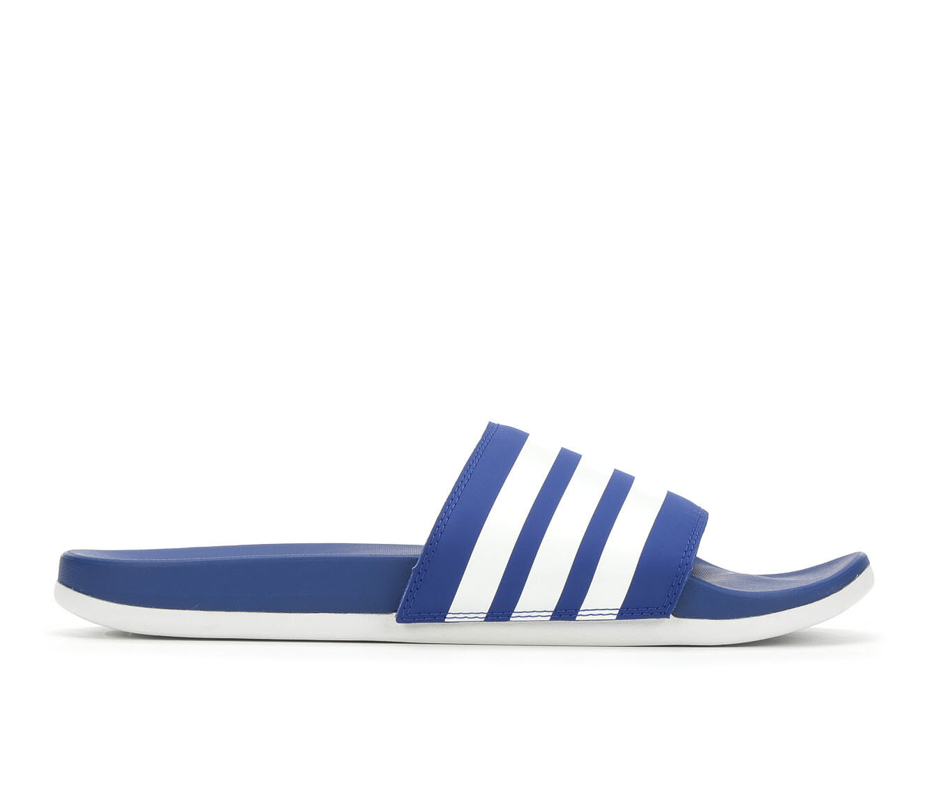 Men's Adidas Adilette Cloudfoam Plus Sport Slides Royal Blue/Wht