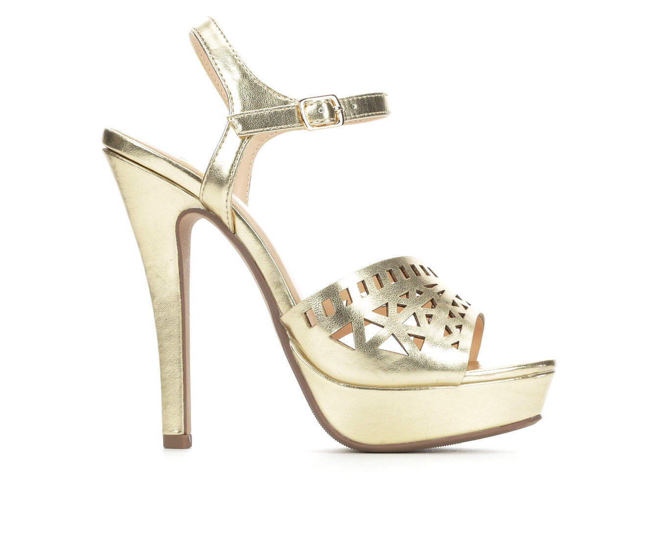 Women's Delicious Onboard Heeled Dress Sandals Light Gold