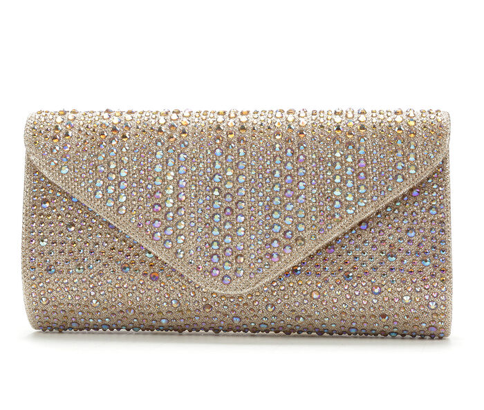 LLorraine Studded Envelope Evening Clutch