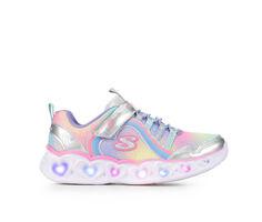 Girls' Skechers Little Kid & Big Kid Heart Lights Rainbow Lux Light-Up Shoes
