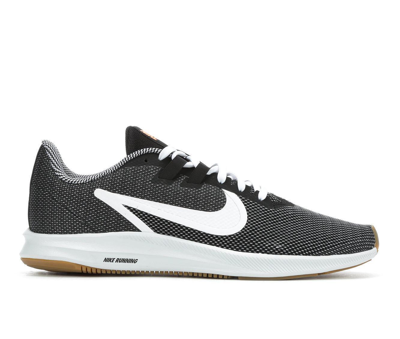 Men's Nike Downshifter 9 SE Running Shoes Blk/Wht/Gum 001