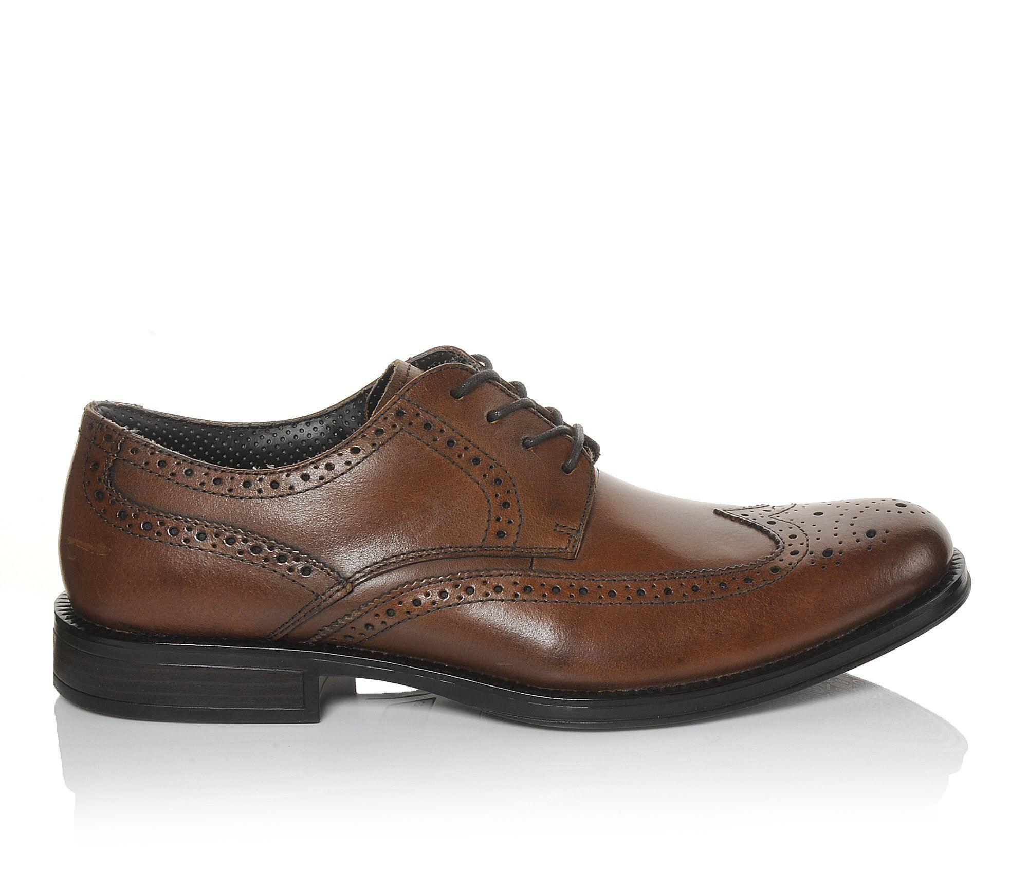 Men's Dockers Moritz Wing Tip Dress Shoes Dark Tan