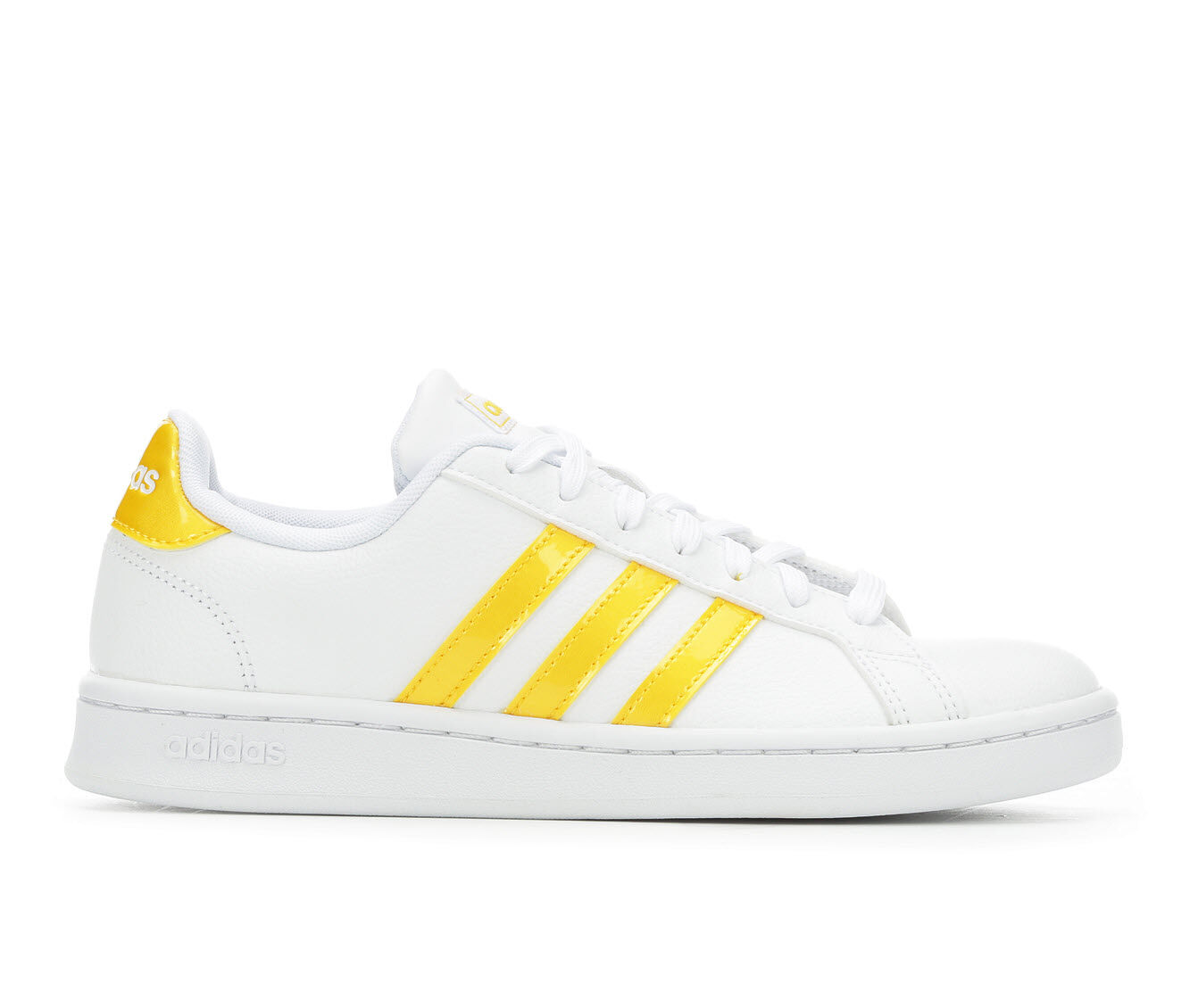 Women's Adidas Grand Court Basketball Shoes White/Gold