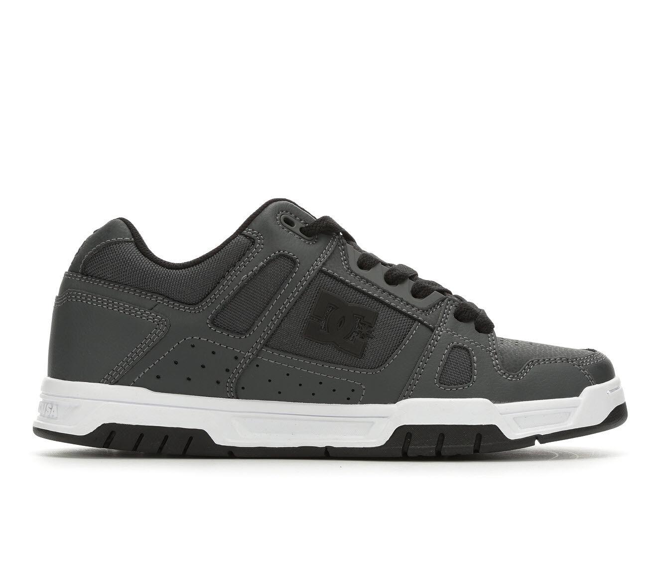 Men's DC Stag Skate Shoes Dk Grey