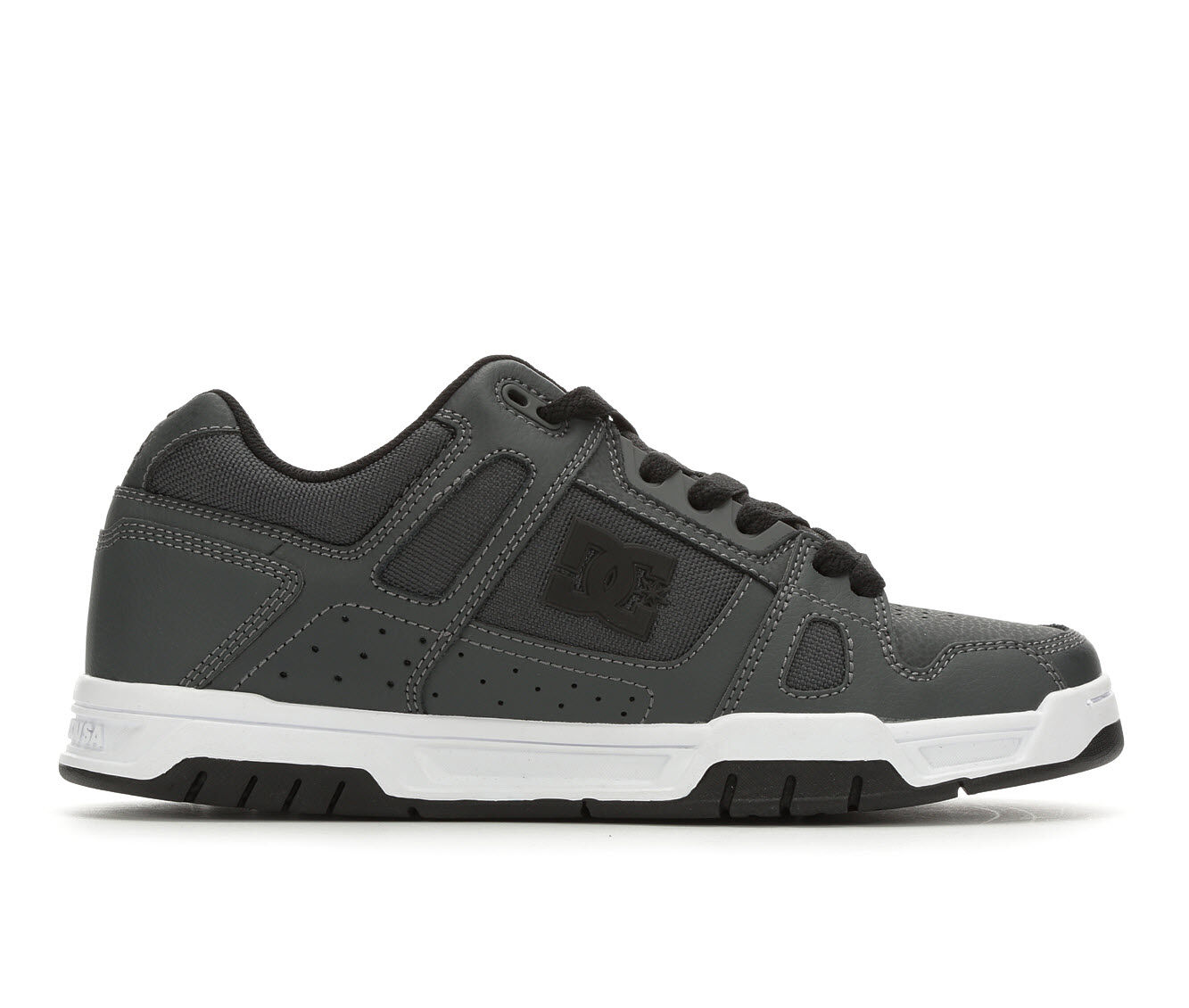shop authentic new style Men's DC Stag Skate Shoes Dk Grey
