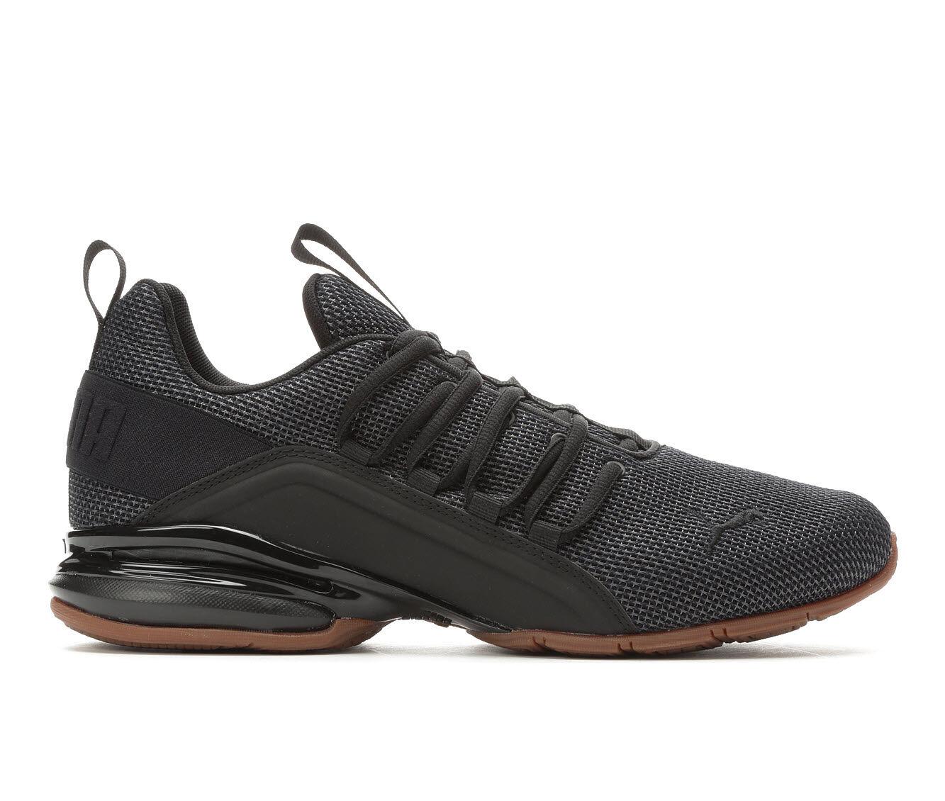Men's Puma Axelion Mesh Sneakers Blk/Blk/Gum