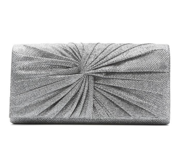 Four Seasons Handbags Large Metallic Evening Clutch