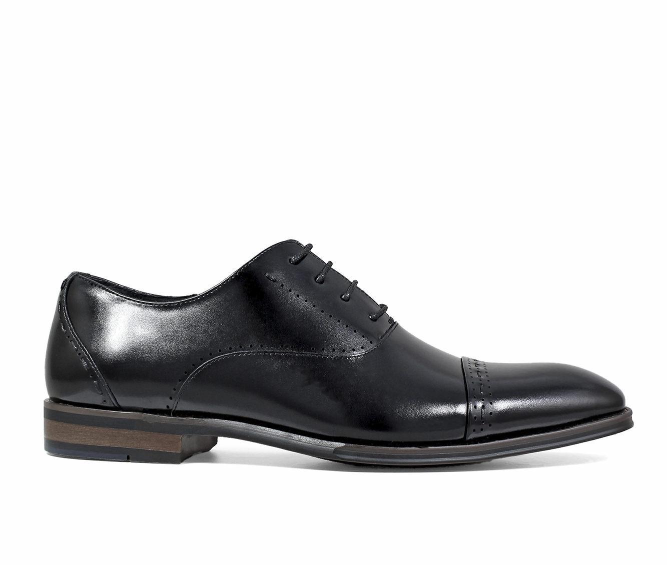 Men's Stacy Adams Barris Cap Toe Oxford Dress Shoes Black