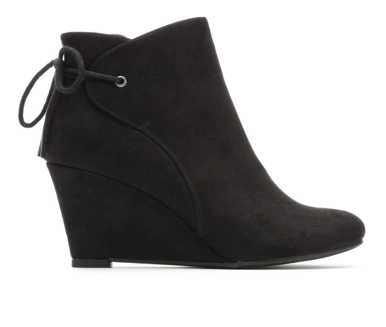 Black Wedge Heel Shoes hHRJsA4j