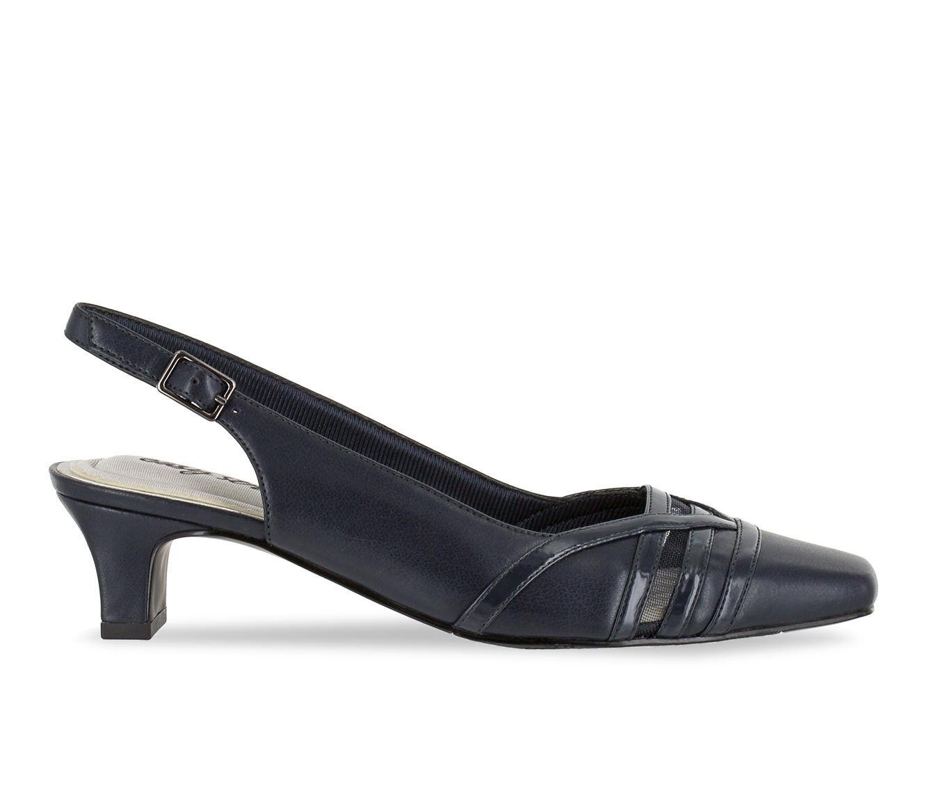 Women's Easy Street Kristen Shoes Navy Patent