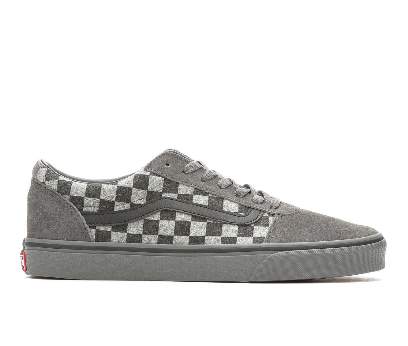 Men's Vans Ward Skate Shoes Gry/Gry Check