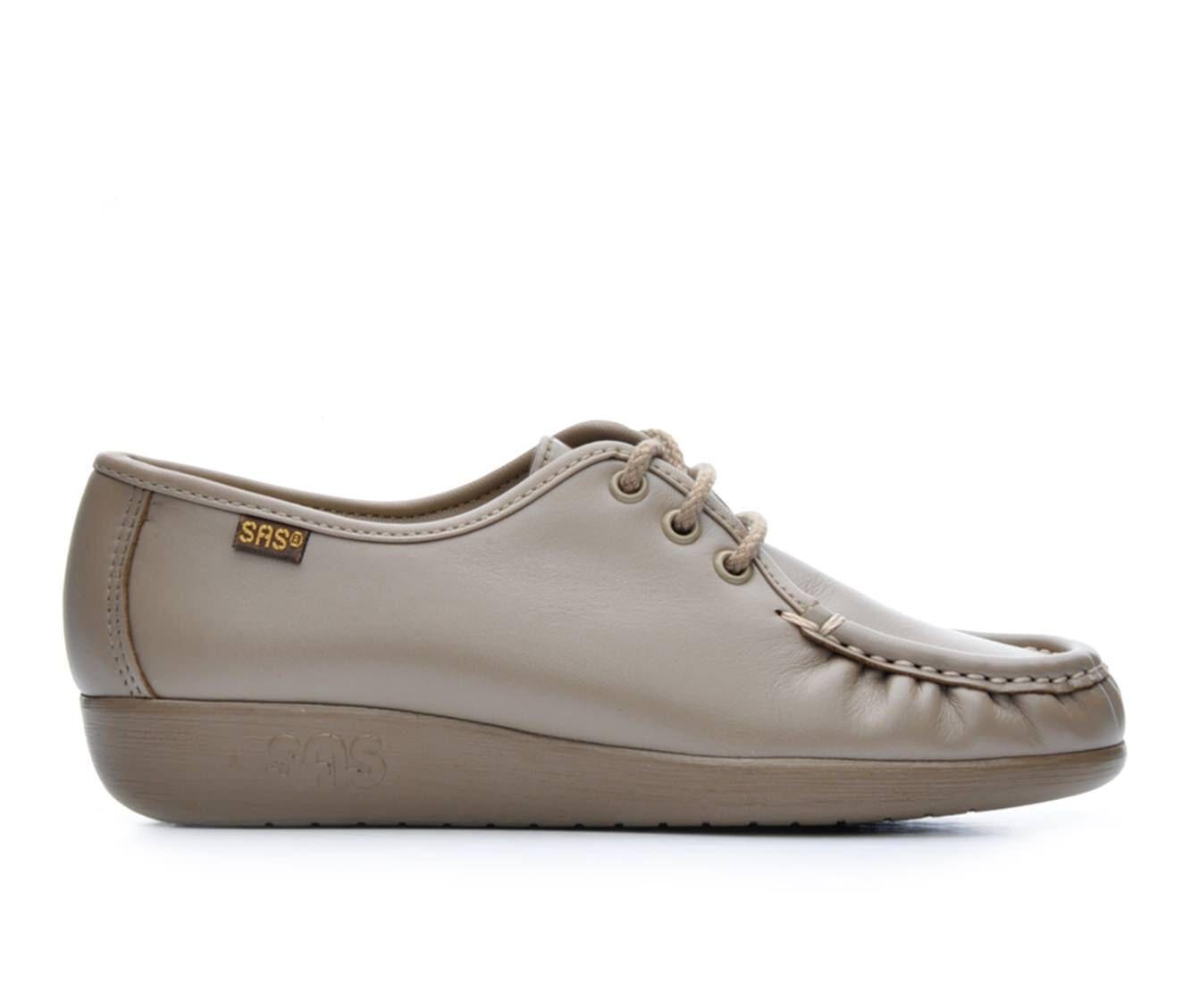 Women's Sas Siesta Comfort Tie Comfort Shoes Mocha