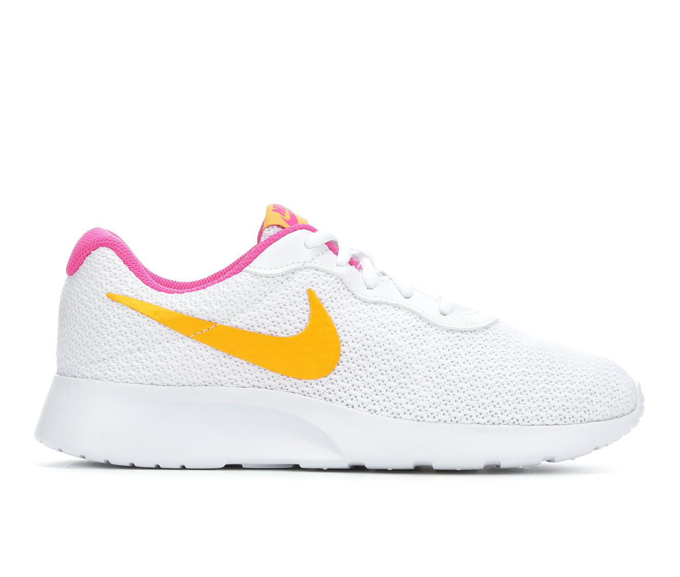free shipping Women's Nike Tanjun Sneakers White/Gold/Pink