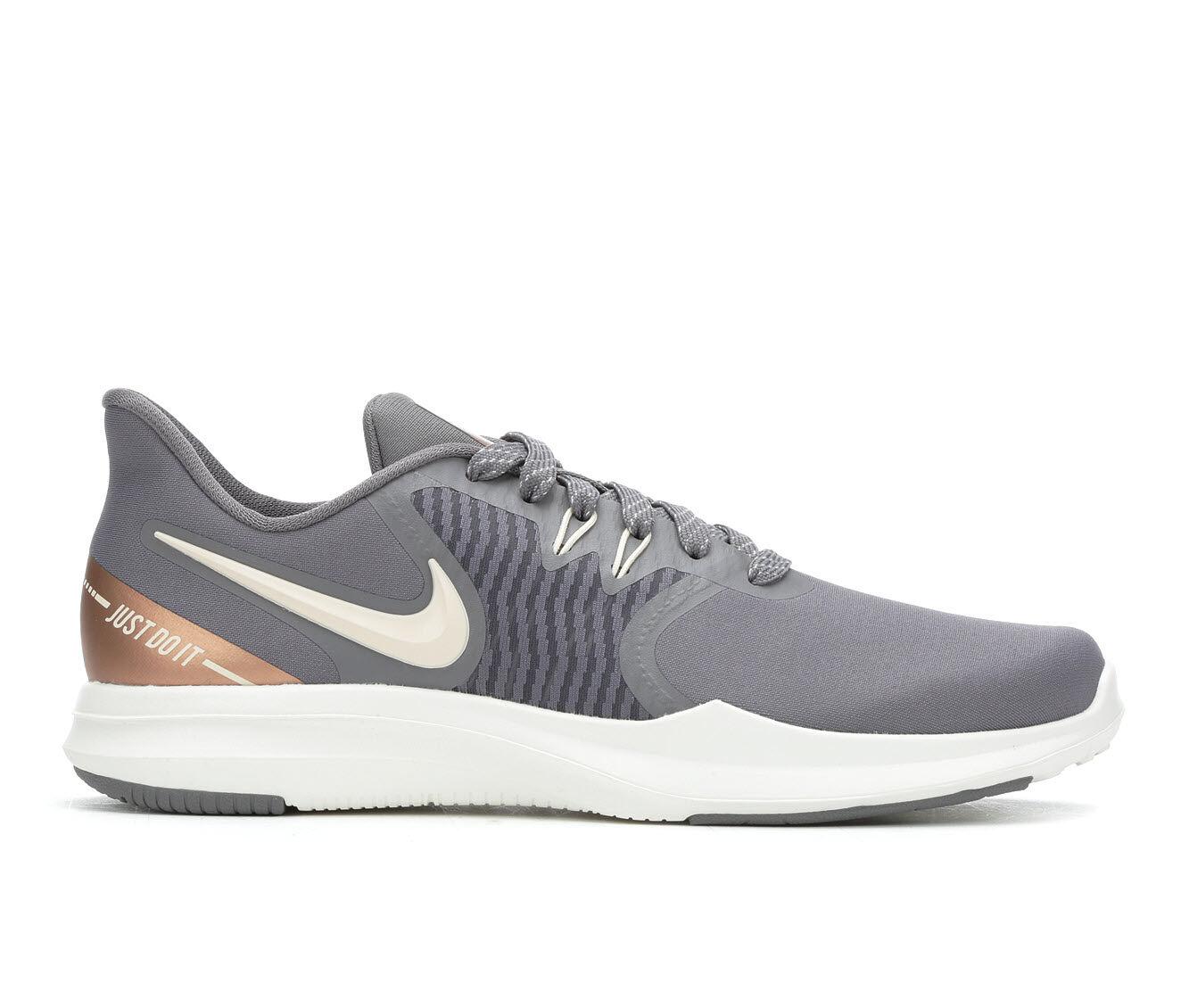 Women's Nike In-Season TR 8 AMP Training Shoes Grey/Red Bronze