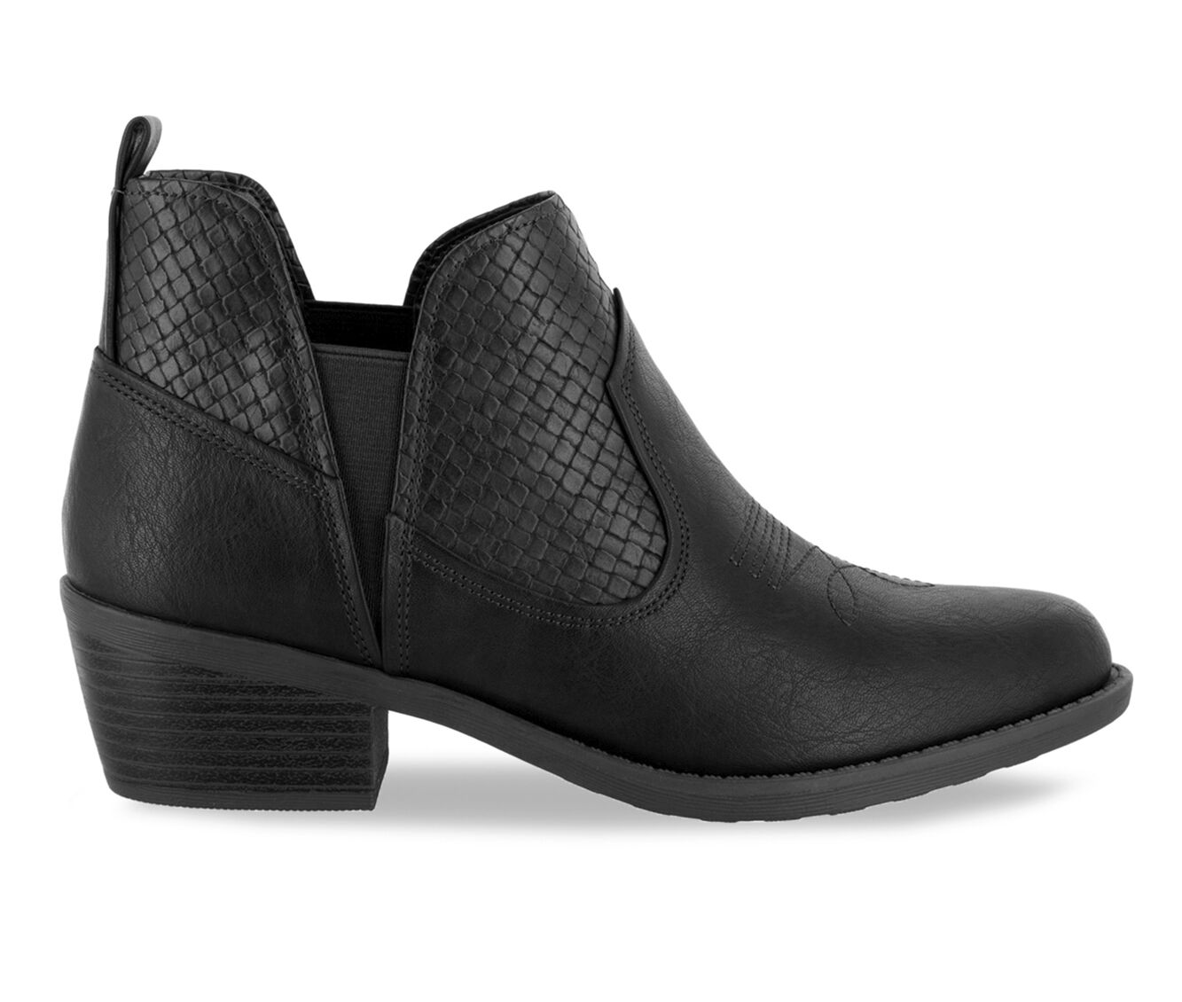 Women's Easy Street Legend Booties Black Woven