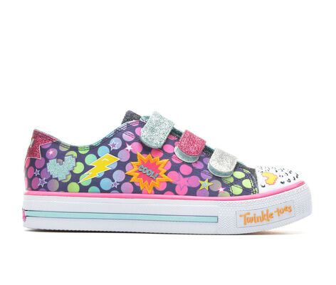 Girls' Skechers Shuffles Poppn Posse 10.5-4 Light-Up Sneakers