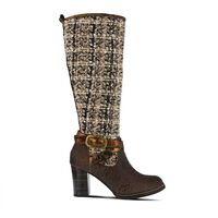 Women's L'ARTISTE Tweed Riding Boots