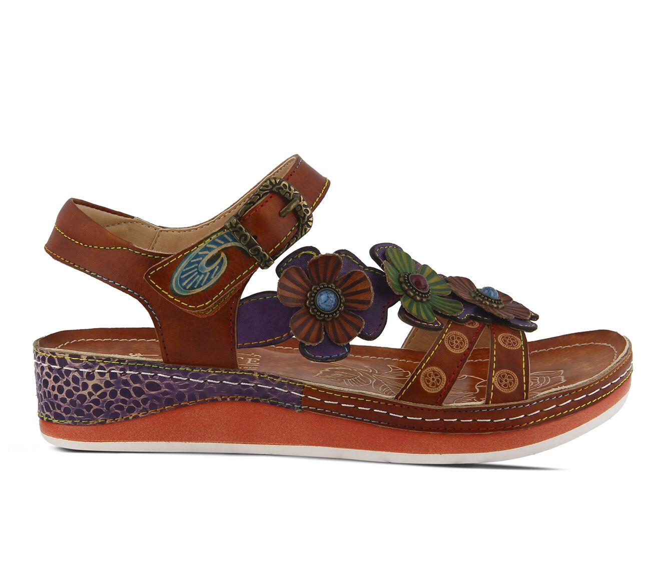 Women's L'ARTISTE Goodie Sandals Camel