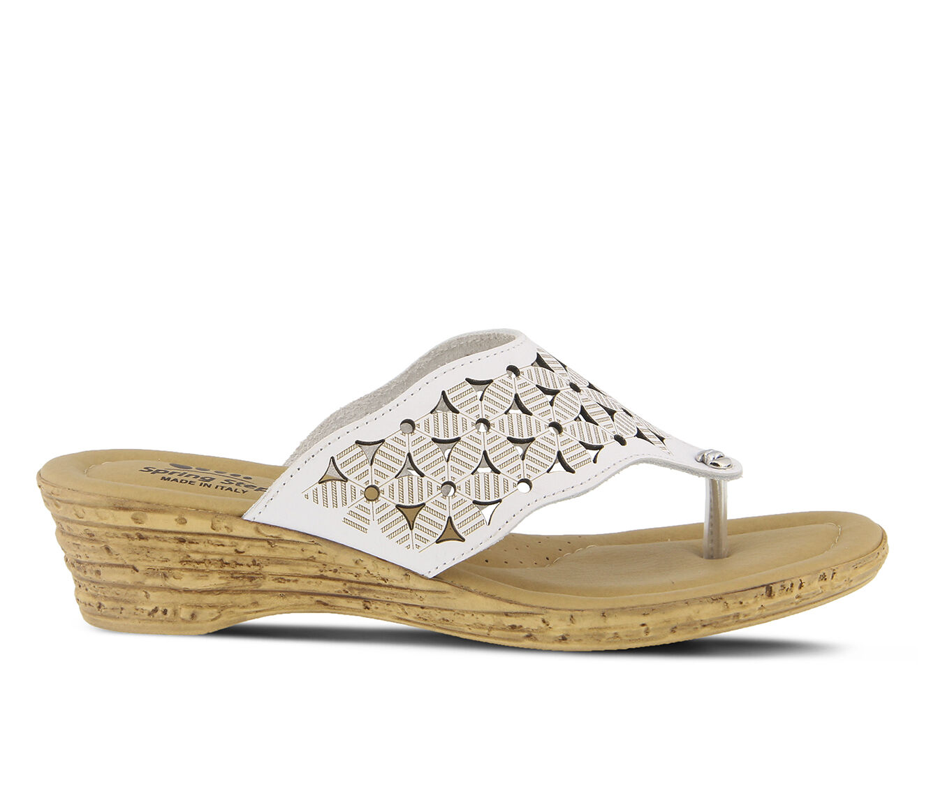 Clearance Women's SPRING STEP Tiffany Sandals White