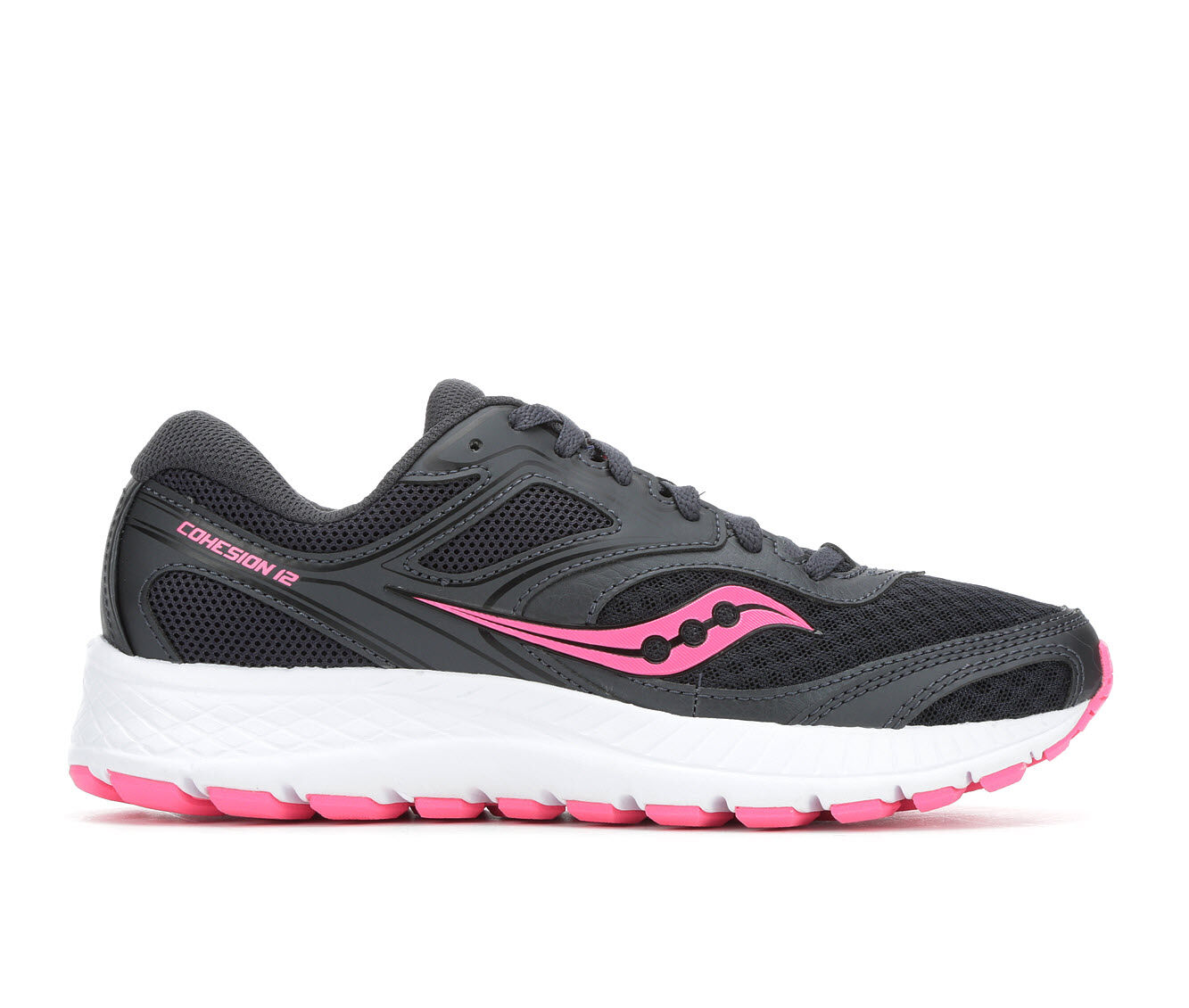 Beautifu Women's Saucony Cohesion 12 Running Shoes Black/Pink