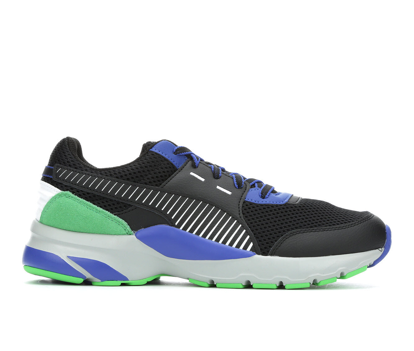 Men's Puma Future Runner Sneakers Blk/Blu/Grn