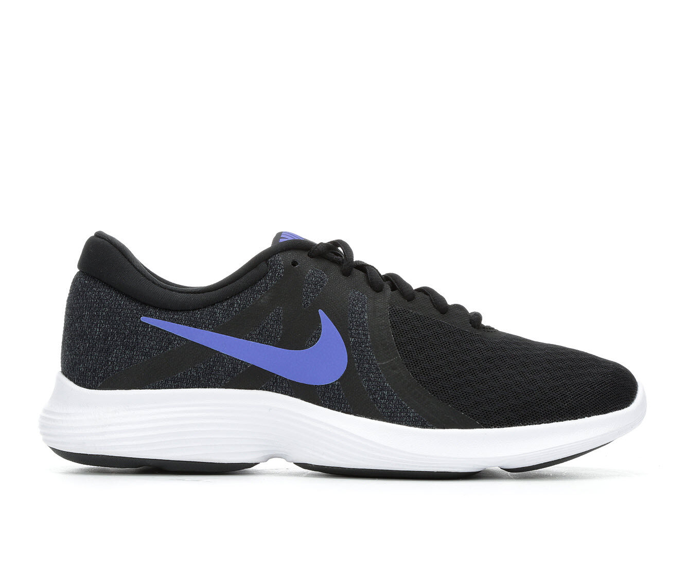Women's Nike Revolution 4 Running Shoes Black/Blue/Wht