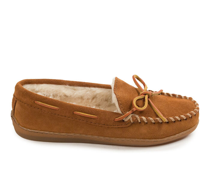 Minnetonka Pile Lined Hardsole Moc Slippers