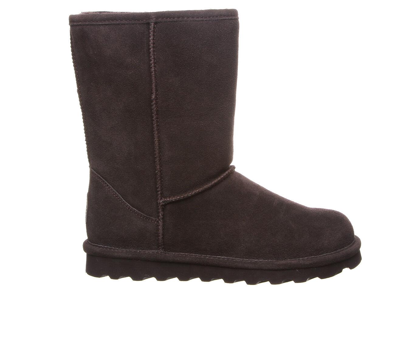 Women's Bearpaw Elle Short Wide Boots Chocolate