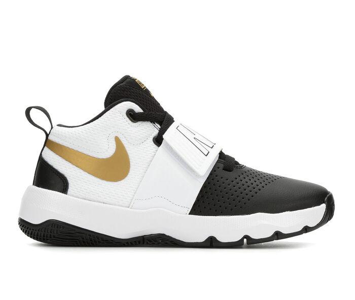 Boys' Nike Team Hustle D8 3.5-7 High Top Basketball Shoes