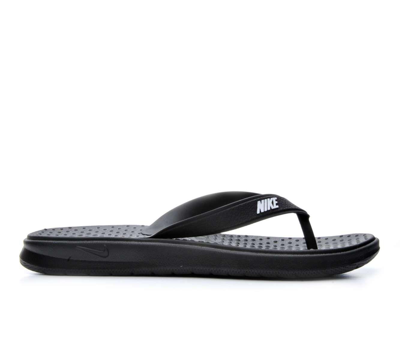 Women's Nike Solay Flip-Flop Sport Sandals Black/White