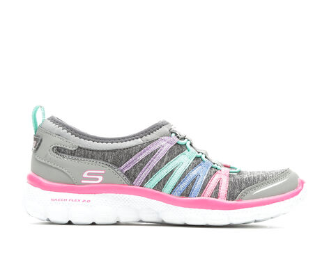 Girls' Skechers Flex 2.0 10.5-5 Casual Shoes