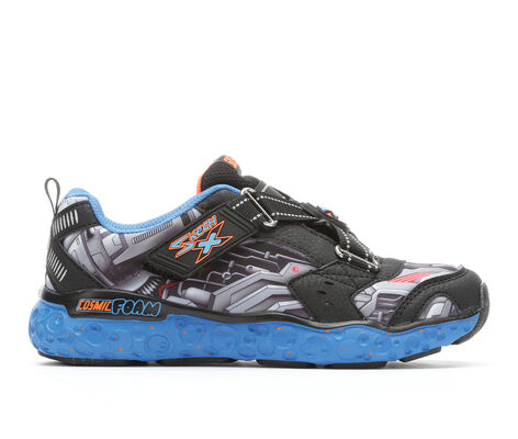 Boys' Skechers Cosmic Foam- Portal X 10.5-4 Slip-On Sneakers