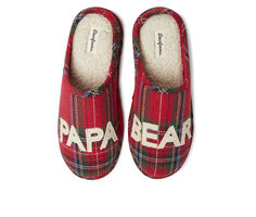 Dearfoams Papa Bear Plaid Clog