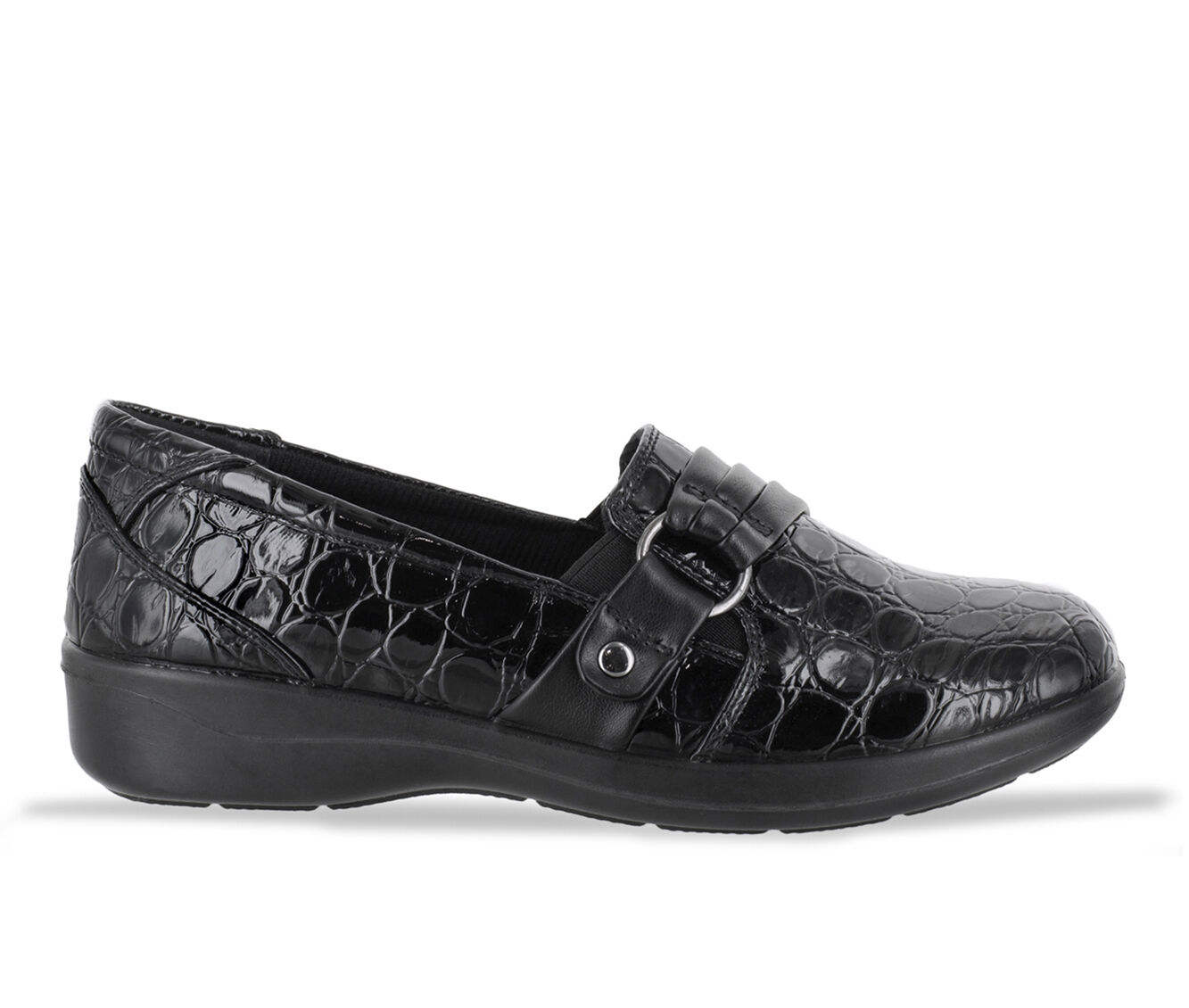 get cheap latest series Women's Easy Street Tully Shoes Black Pat Croc
