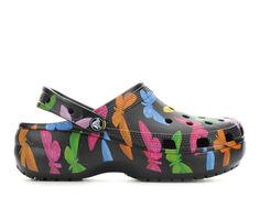 Women's Crocs Classic Platform Graphic Clogs