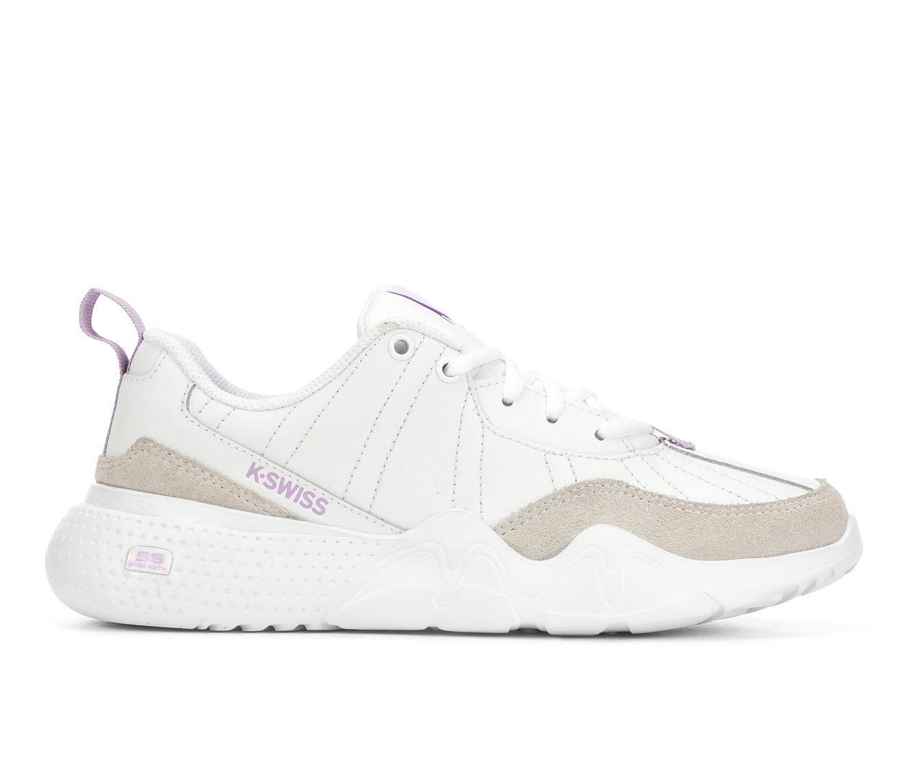 Buy Cheap Women's K-Swiss CR-329 LTR Tennis Shoes White/Lavendar