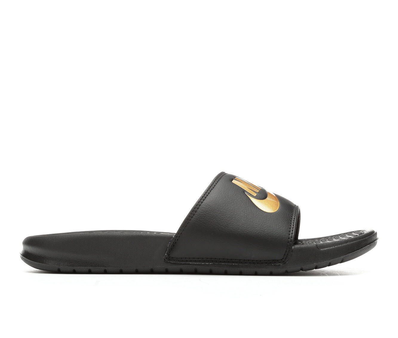 Men's Nike Benassi JDI Sport Slides Black/Met Gold