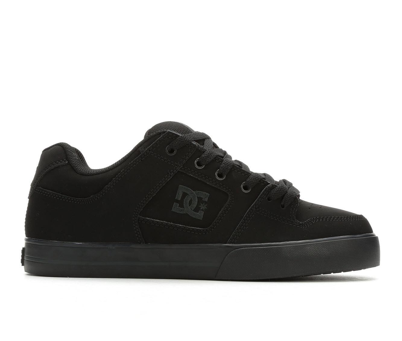 Buying Cheap Men's DC Pure Skate Shoes Black/Black