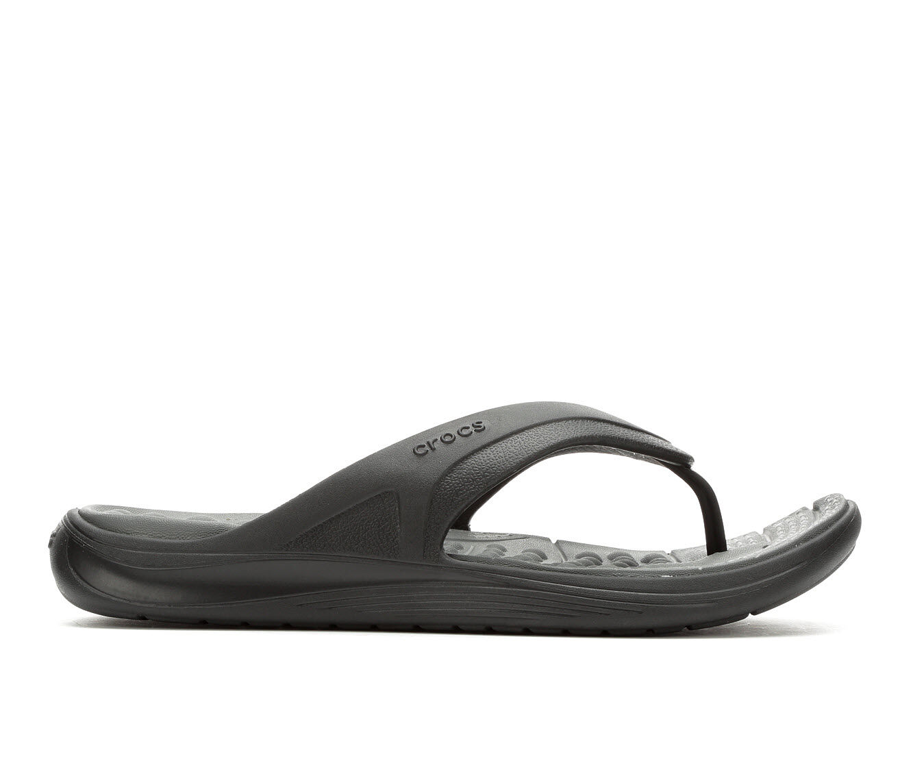 Men's Crocs Reviva Flip-Flop Black/Grey