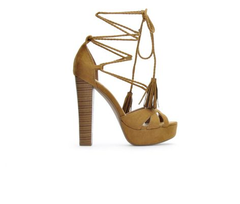 Women's Delicious Laredo Lace-Up Platform Heels