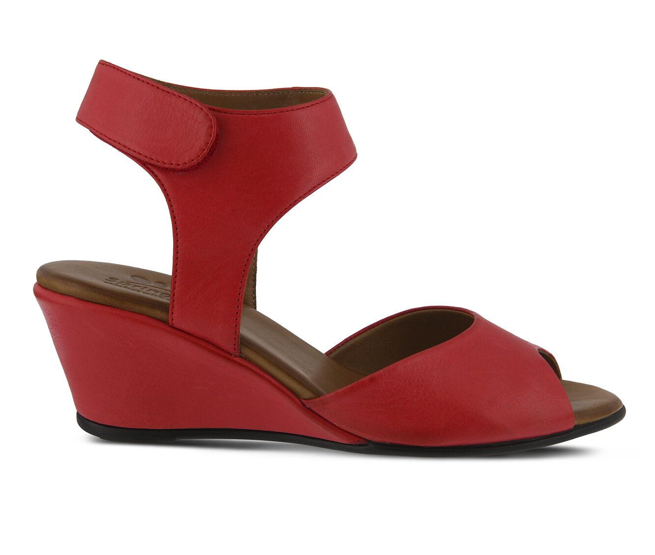 Women's SPRING STEP Marjory Wedges Dark Red