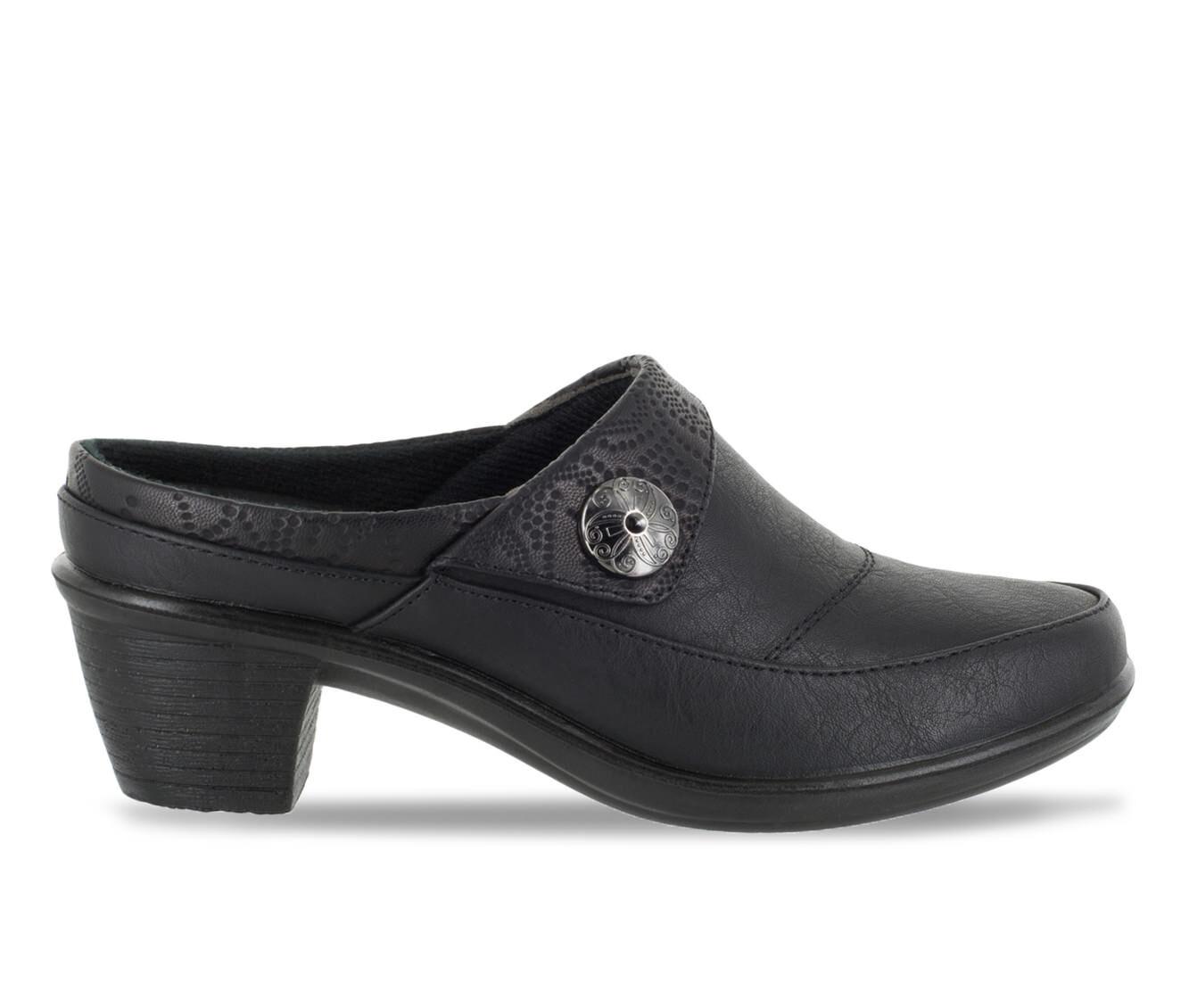 Women's Easy Street Journey Shoes Black/Embossed